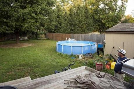 A year later, Ross's backyard has undergone much improvement.