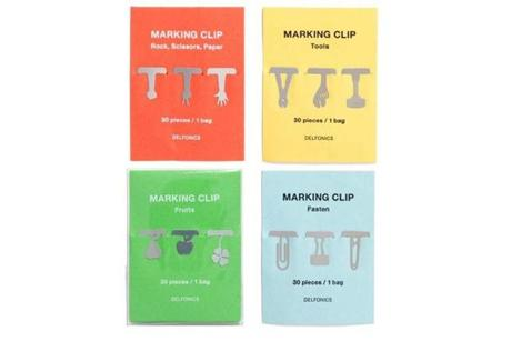 Delfonics for Top Hat marking clips, $12 per pack at <a href=