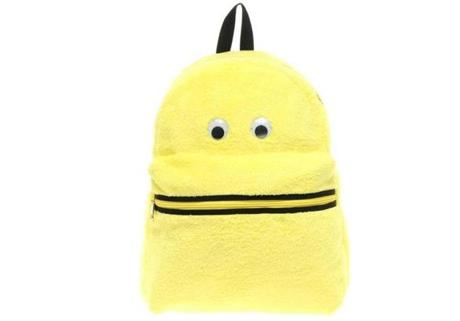 ASOS Googley eyes backpack in yellow, $25.55 (on sale) at www.asos.com.