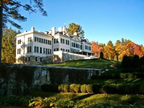 The Mount, author Edith Wharton's home in Lenox, looks spectacular as the trees change color. Ghost tours are held Friday nights.