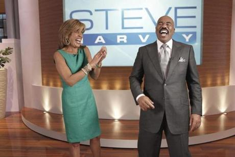 Steve Harvey (with Hoda Kotb) will infuse his talk show with humor.