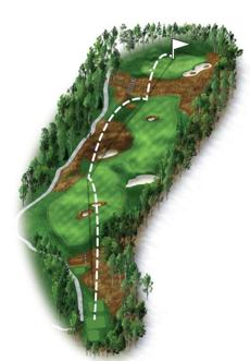 The biggest change to the course this year is the 18th green, which is much smaller, has been raised slightly, and features a number of run-off areas and a small bunker to the left that will make up-and-down birdies, or par saves, quite challenging. Players can still choose to carry two bunkers in the middle of the fairway, but going for the green in two now won't be as easy. Those choosing to lay up on their second shot will still need to avoid a pot bunker in the center of the fairway in order to score well.