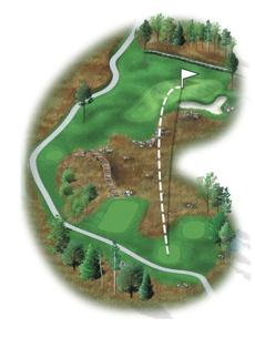 This par 3 is now home to a stone wall, enhancing the course's traditional New England feel. With the addition of a quirky little ridge on the left side of the green, and a new large bunker protecting the front right, an accurate iron shot is required on the approach. A new tee box has been built, stretching the hole to 208 yards.