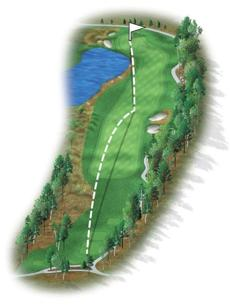 This long par 4 is one of my personal favorites. No. 6 is a long, slight dogleg left through a narrow chute and over mounds with two bunkers guarding the right side of the fairway. The green is complex and entirely changed, with water guarding its front edge and dangerous mounds to the left. Par will be a good score.