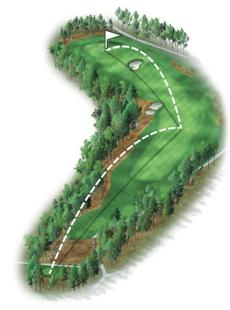 The longest par 4 on the front nine. This dogleg left presents a fairly open tee shot, but the approach will be blind to a new punch bowl green. Most players will hit a long- to mid-iron second shot and try to bounce the ball onto the green to get close to the flag.