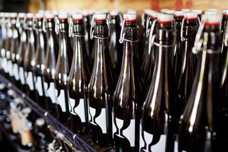 Detail of beer for sale at Hill Farmstead Brewery in Greensboro, Vermont. photo by Monica Donovan for the Boston Globe