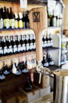 Detail of a tap at Hill Farmstead Brewery in Greensboro, Vermont. photo by Monica Donovan for the Boston Globe