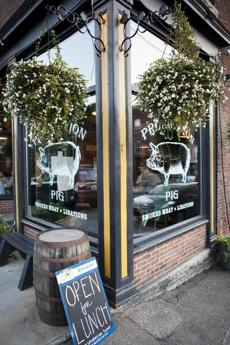 The outside of Prohibition Pig in Waterbury, Vermont, Friday, August 24, 2012. photo by Judd Lamphere for the Boston Globe