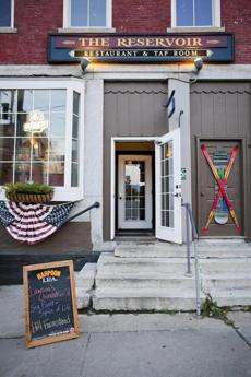 The outside of The Reservoir Restaurant & Tap Room in Waterbury, Vermont, Friday, August 24, 2012. photo by Judd Lamphere for the Boston Globe