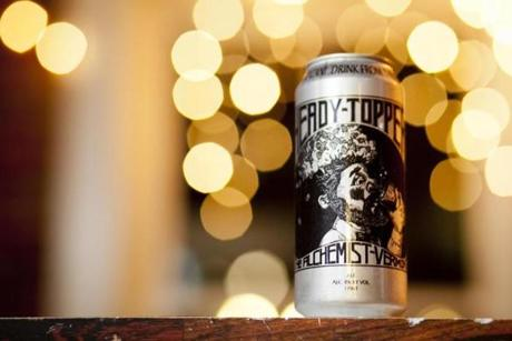 Detail of a can of Heady Topper, produced at The Alchemist Cannery in Waterbury, Vermont. photo by Monica Donovan for the Boston Globe