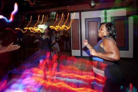 Theresa Johnson celebrated her birthday at Slades Bar and Grille in Roxbury on  Aug 31.
