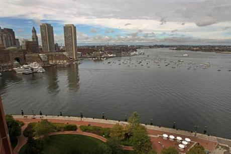 A view of the South Boston Waterfront outside the John Joseph Moakley United States Courthouse. New condo development virtually stopped in 2009, when the financial crisis and recession made it difficult to finance such projects.