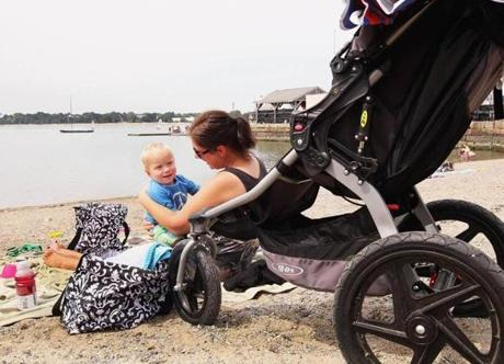 Lisa Daley of Weymouth and son Luke enjoyed an outing at Pleasure Bay in South Boston.