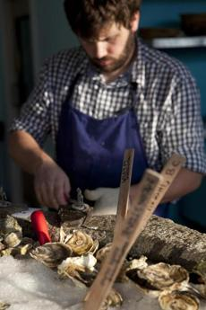 Andrew Taylor, co-owner and chef at Eventide oyster bar in Portland, updates some Maine classics, such as roasted oysters.