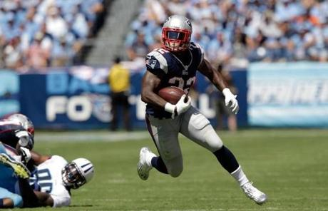 Patriots running back Stevan Ridley gained more than 100 yards.