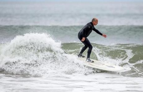 """We're amateur meteorologists,"" said Rick Evans, 59, who has been riding waves in New Hampshire for about 30 years."