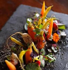 "Salts restaurant's ""Garden Salad."""