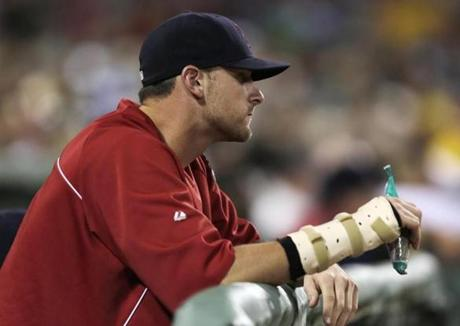 Will Middlebrooks' season ended with a cast on his wrist.
