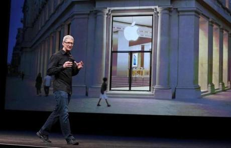 Before the iPhone announcement, Apple CEO Tim Cook talked about a new Apple store in Barcelona.