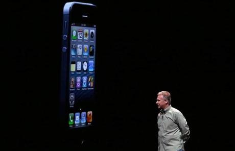 Apple senior vice president of worldwide product marketing Phil Schiller announced the new iPhone 5.