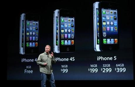 The iPhone 5 will cost the same as the iPhone 4S did when it debuted, starting at $199 with a two-year contract in the US.