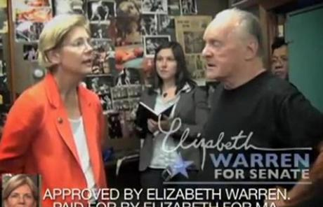Senator Scott Brown said Elizabeth Warren's new ad leveled untrue accusations against him and degraded the campaign.