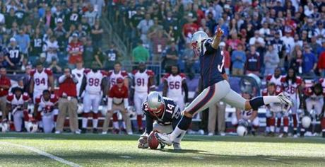 Patriots kicker Stephen Gostkowski stepped into what would have been the game winning field goal in the final seconds.