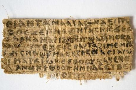 This scrap of fourth-century papyrus contains the first known explicit reference to Jesus as married.