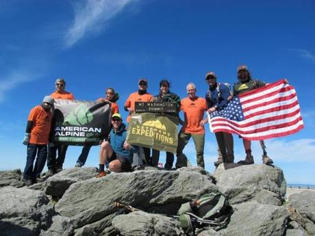 vet group on mt washington summit