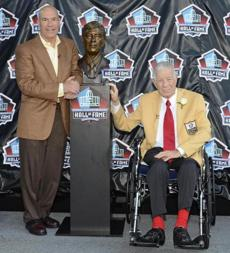 In 2011, Steve Sabol presented his father, Ed, for enshrinement into the Hall of Fame.
