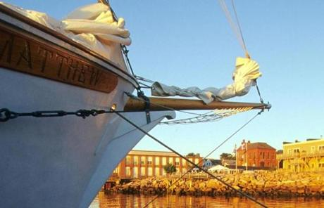 Small charters and big ships explore coastal Maine.