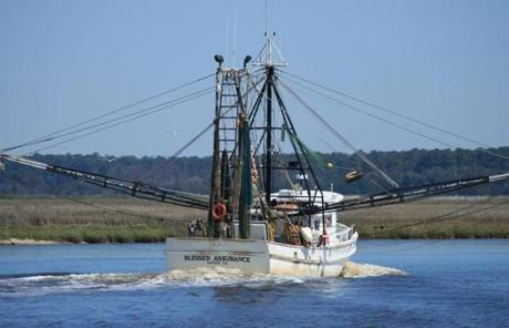 Intracoastal sailors may see a shrimp boat in Georgia.