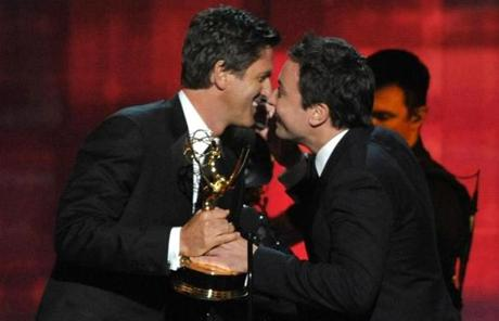 Jimmy Fallon presented the award for outstanding directing in a comedy series to Steven Levitan for