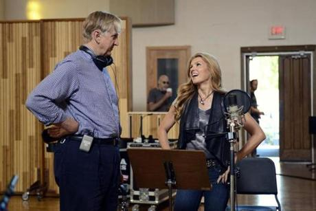 T Bone Burnett, the show's musical adviser, and actress Connie Britton, who plays a waning country star.