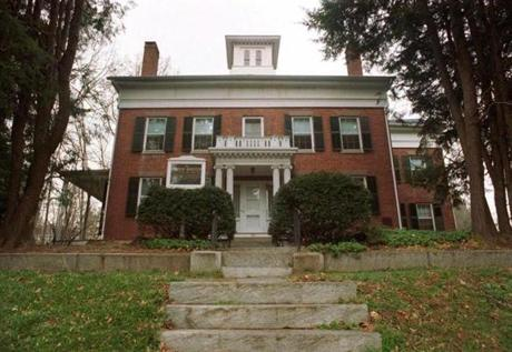 The home of poet Emily Dickinson on Main Street in Amherst, Mass. is where she began to write seriously.