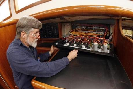 Mr. Kingsland, an inspirational teacher at BU, began work on his 50-foot cutter in 1979.