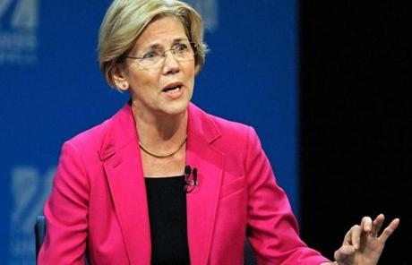 At times, policy took a back seat to sniping over some political flash points. Above, Warren answered a question.