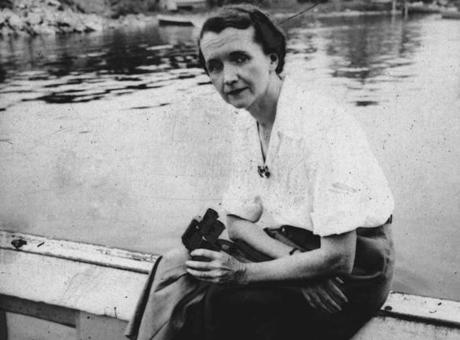 "Rachel Carson is seen at Woods Hole, Maine, in 1951, 11 years before she published ""Silent Spring."""