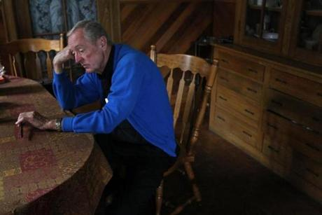 Conway at the kitchen table on Oct. 10 at the rectory of St. Ambrose church where he lives . There had been several shootings in his parish, one of them fatal, in the last two weeks.