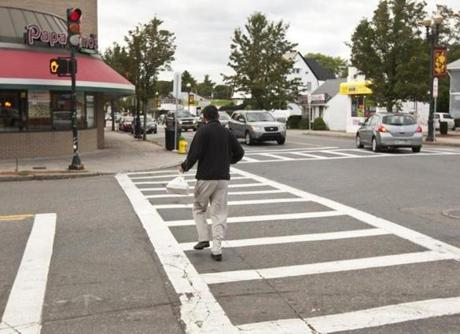 To improve safety, Quincy is repainting pedestrian crosswalks to make them more visible to drivers.