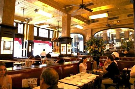 Balthazar, a Parisian-style bistro on Spring Street, is known for its buttery croissants.