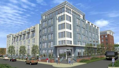 A Boston developer is looking to build a $60 million apartment complex on Morrissey Boulevard, next to the  JFK/UMass MBTA station.