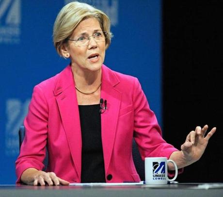 Elizabeth Warren said Brown voted with the GOP on the president's jobs bills.