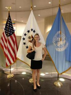 """I'm living history at the U.N.,"" Loughrin said."