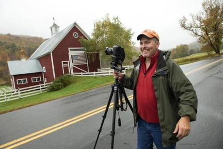 Jeff Folger, in Pomfret, Vt., likes to photograph white church steeples and red barns.