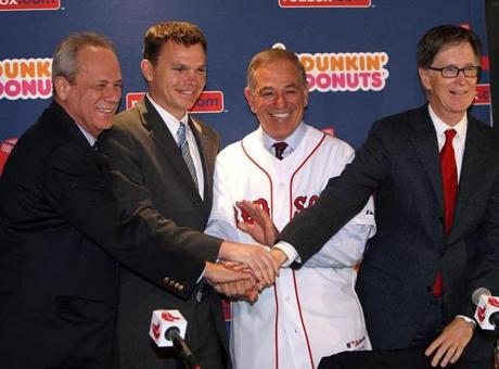 The Bobby Valentine era began with mounds of optimism when he was introduced as Red Sox manager on Dec. 1, 2011.