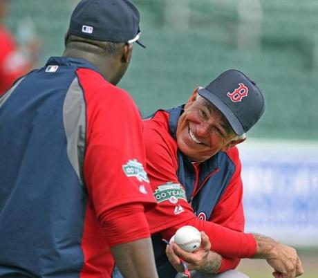 On the same day, Valentine shared some laughs with David Ortiz during a workout.