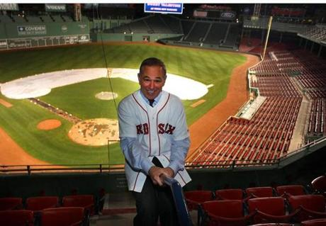 Valentine was so giddy he even slid down a stair rail at Fenway Park.