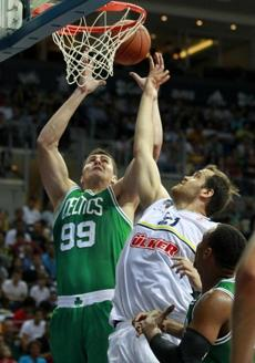 Reserve center Darko Milicic saw action Friday.