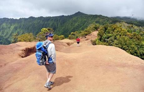 Hike along the Pihea Trail in Kokee State Park, Kauai for sweeping views of the Kalalau Valley.